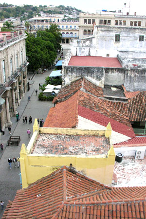 Feb. 11, 2009. My guides told me Hemingway always asked for the room at the Ambos Mundos because of the window that gives you this splendid view of Vieja Habana. That I can believe.