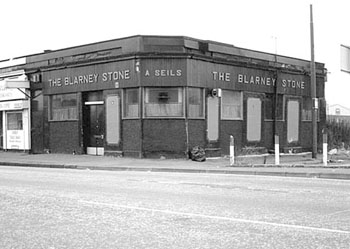"The Blarney Stone: ""The Blarney Stone, standing at the corner of acres of nothing; a last headstone to a lost Gorbals."""